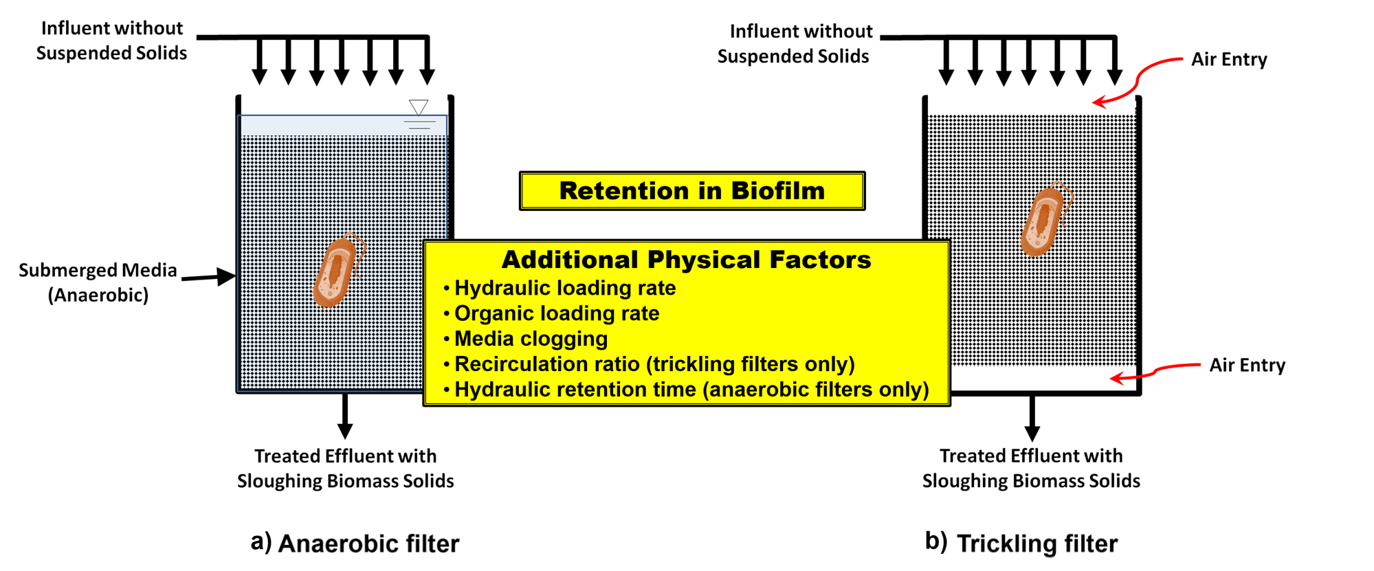 Media Filters: Trickling Filters and Anaerobic Filters
